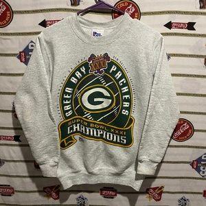 Kids Vintage Green Bay Packers Super Bowl Crewneck